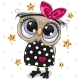 Cartoon Owl on a Dots Background - GraphicRiver Item for Sale