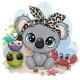 Cartoon Koala, Owls and Crab on the Beach - GraphicRiver Item for Sale