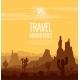 Desert Landscape Witn Huge Rocky Mountains - GraphicRiver Item for Sale