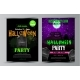 Halloween Party Flyer Set Vector - GraphicRiver Item for Sale