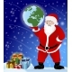 Santa Claus with Presents and Holding the Earth - GraphicRiver Item for Sale