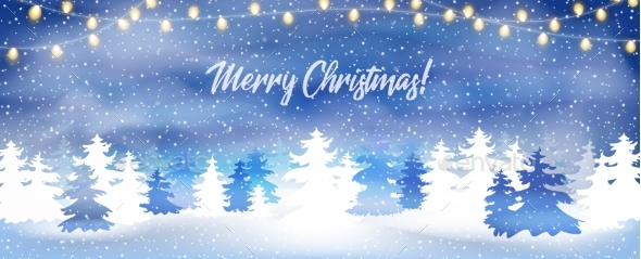 Merry Christmas Banner, Poster or Greeting Card