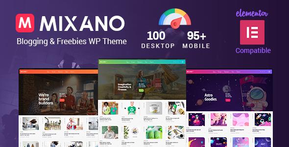 Mixano - Minimal WordPress Theme