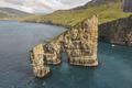 Faroe islands dramatic coastline viewed from helicopter. Vagar area - PhotoDune Item for Sale