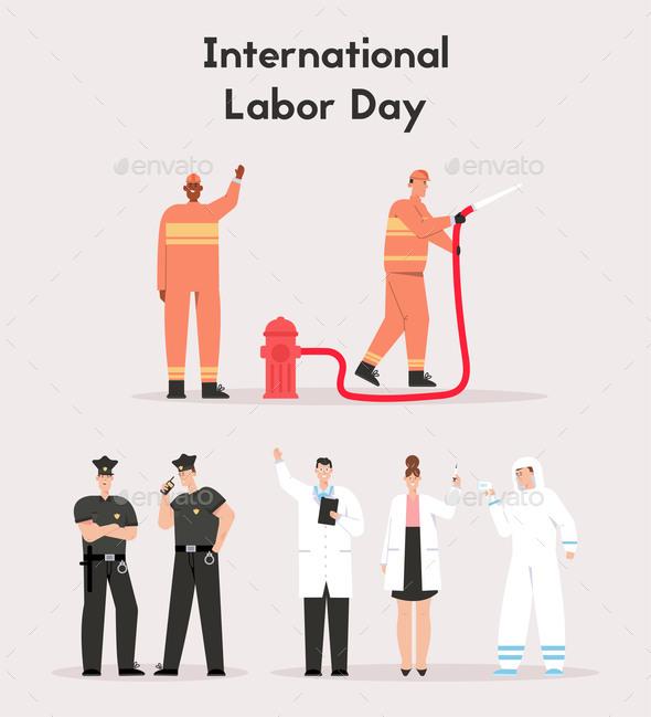 International Labor Day Concept. Life Saving