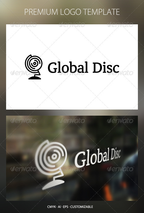 Global Disc Logo Template