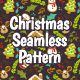 Christmas Elements Seamless Pattern - GraphicRiver Item for Sale