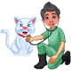 Doctor Checking On Sick Cat - GraphicRiver Item for Sale