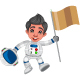 Astronauts And Kids Cartoon - GraphicRiver Item for Sale