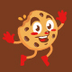 choco chips cookies character mascot sticker cartoon - GraphicRiver Item for Sale