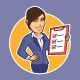 customer service female woman business - GraphicRiver Item for Sale