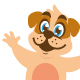 dog cartoon character cute design - GraphicRiver Item for Sale