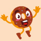 donut cartoon character cute design - GraphicRiver Item for Sale
