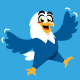 eagle bird cartoon character cute - GraphicRiver Item for Sale
