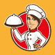female chef cartoon character design - GraphicRiver Item for Sale