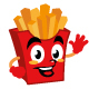 French fries chef cartoon character cute - GraphicRiver Item for Sale