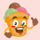 icecream cone cartoon mascot character cute - GraphicRiver Item for Sale