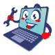 laptop computer cartoon character cute - GraphicRiver Item for Sale