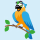 macaw parrot cartoon character cute - GraphicRiver Item for Sale