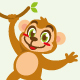 monkey cartoon character cute design - GraphicRiver Item for Sale