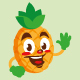 pineapple fruit cartoon character cute - GraphicRiver Item for Sale