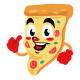 pizza delicious cartoon character cute - GraphicRiver Item for Sale