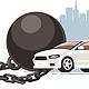 Car Restriction Prison Ball - GraphicRiver Item for Sale