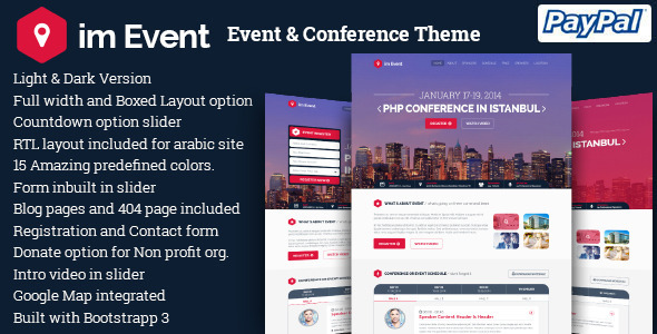 imEvent – Conference Meetup WordPress Theme
