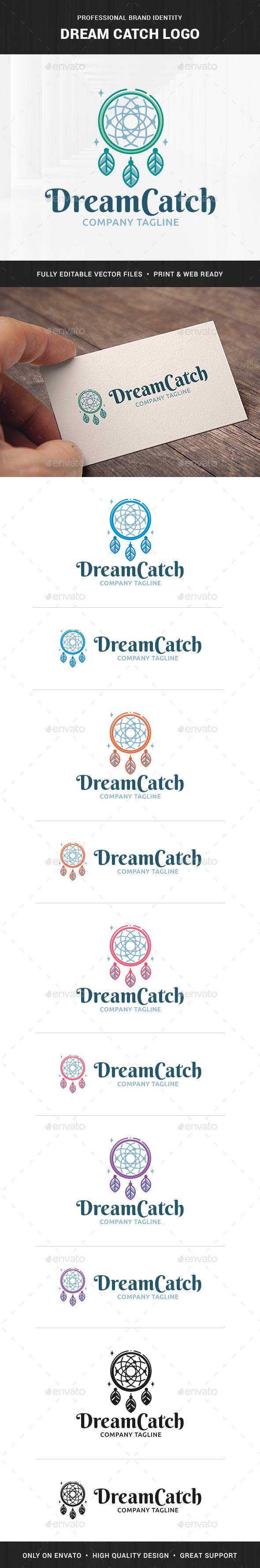 Dream Catch Logo Template