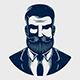 Bearded Hipster Head Logo Design - GraphicRiver Item for Sale