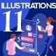 Digital Marketing Flat Illustration - GraphicRiver Item for Sale