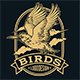 Birds Gold Animal Wing Drawing Vector - GraphicRiver Item for Sale
