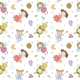 Pattern with Cartoon Fairies - GraphicRiver Item for Sale