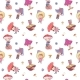 Pattern with Cartoon Gnomes Mushrooms - GraphicRiver Item for Sale