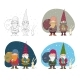 Old Christmas Gnomes and a Hare - GraphicRiver Item for Sale