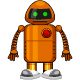 Flat Fobot Cartoon - GraphicRiver Item for Sale