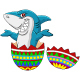 Shark And Easter Egg Cartoon - GraphicRiver Item for Sale