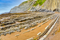 Steeply-tilted Layers of Flysch, Basque Coast UNESCO Global Geopark, Spain - PhotoDune Item for Sale