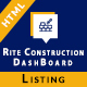 Rite Construction Listing Html5 Template - ThemeForest Item for Sale