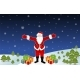 Smiling Santa Claus with Christmas Gifts on Snow - GraphicRiver Item for Sale