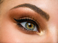 Beautiful female eye with brown, shiny makeup. - PhotoDune Item for Sale