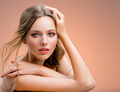 Portrait of a beautiful woman with a long hair. Model with beautiful hair - PhotoDune Item for Sale