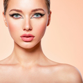 Beautiful girl with makeup in the form of arrows. - PhotoDune Item for Sale