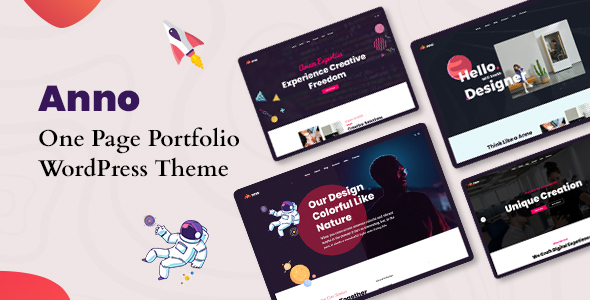Anno - One Page Portfolio WordPress Theme