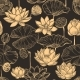Sketch Lotus Seamless Pattern. Floral Composition - GraphicRiver Item for Sale