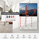 1-Page Wall Calendar 2021 Templates - GraphicRiver Item for Sale