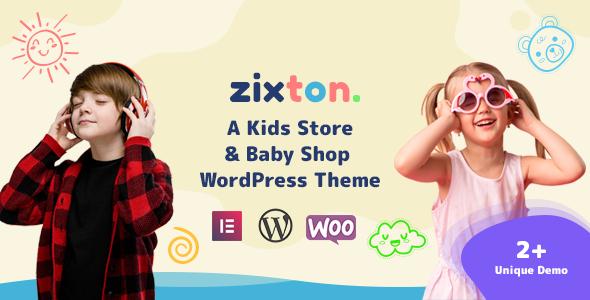 Zixton  – Baby Fashion WooCommerce Theme