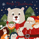 Christmas Card with Polar Bear in a Red Scarf - GraphicRiver Item for Sale