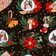 Seamless Pattern with Christmas Decor and Flowers - GraphicRiver Item for Sale