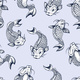 Seamless Pattern with Fish Koi Japanese Vintage - GraphicRiver Item for Sale